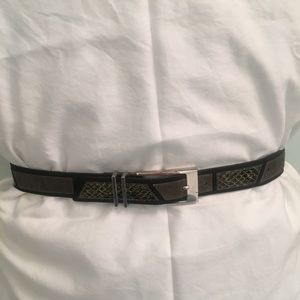 Streets Ahead belt with snake skin & suede